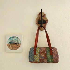 Fossil 💜 Coronado Leather Shoulder Bag Purse Boho